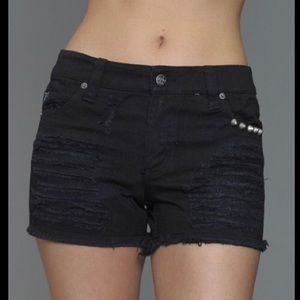 TRIPP NYC The Apocalyptic Ripped and Studded short